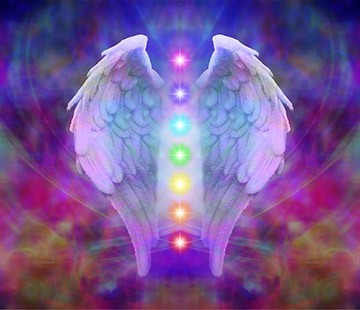 Chakras in Angel Wings